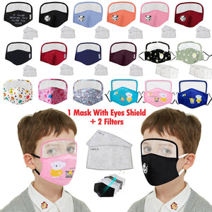 Child's Protective Face Mask with Eyes Shield