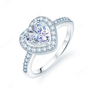 Princess Cut Engagement/Wedding rings | Crystal Zircon Ring for Women |Heart shape ring