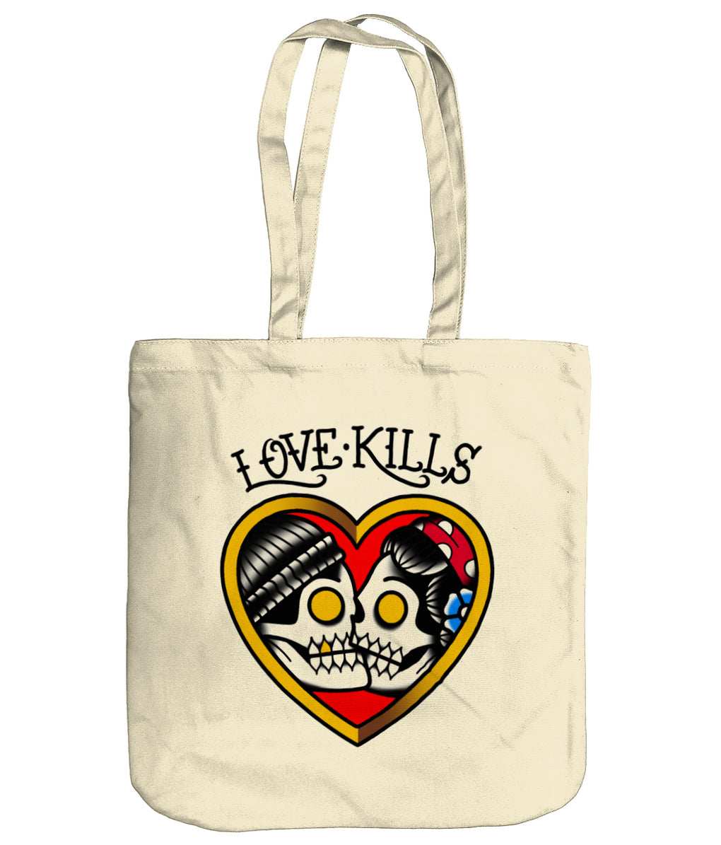 Love Kills Organic Tote Bag