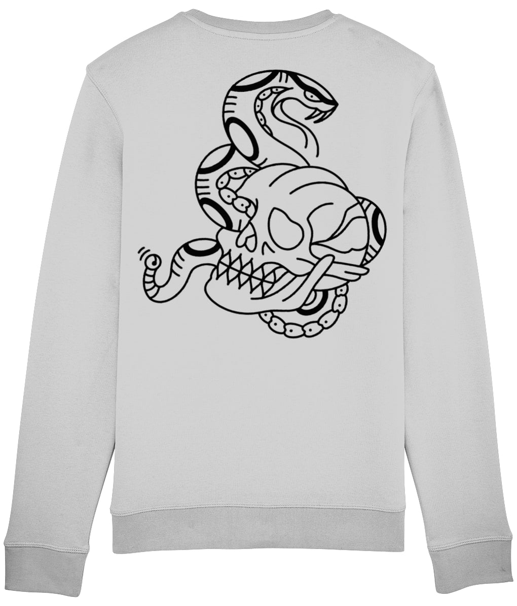 tattoo inspired Clothing Snake & Skull - Grey Sweatshirt