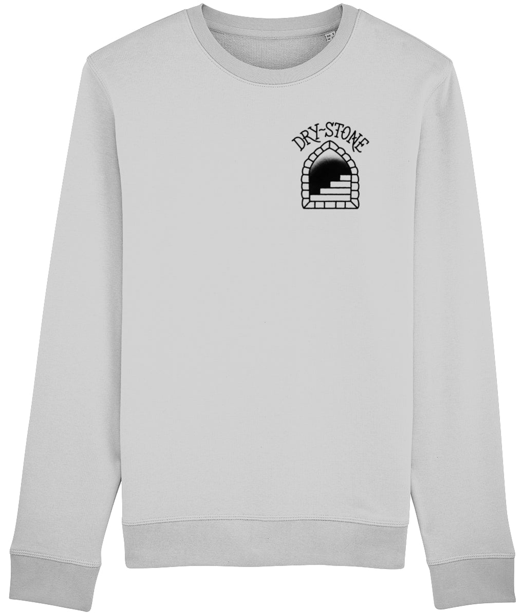 tattoo inspired Clothing X-Small Snake & Skull - Grey Sweatshirt
