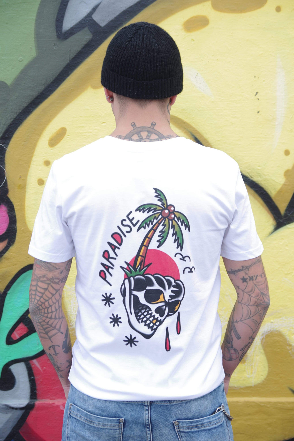tattoo inspired T-shirt Paradise Lost - White Tee