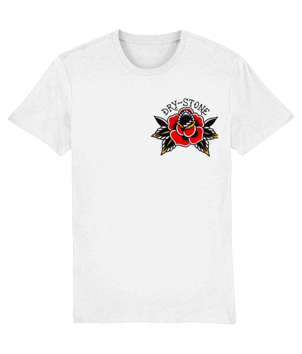 tattoo inspired T-shirt X-Small Rose Tattoo - White Tee