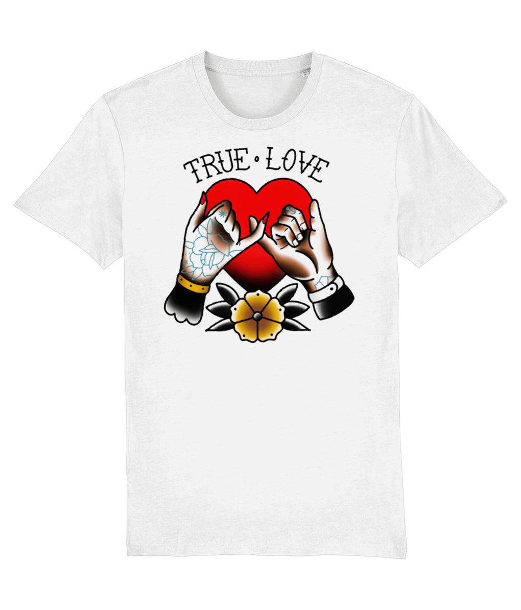 tattoo inspired T-shirt X-Small True Love - White Tee