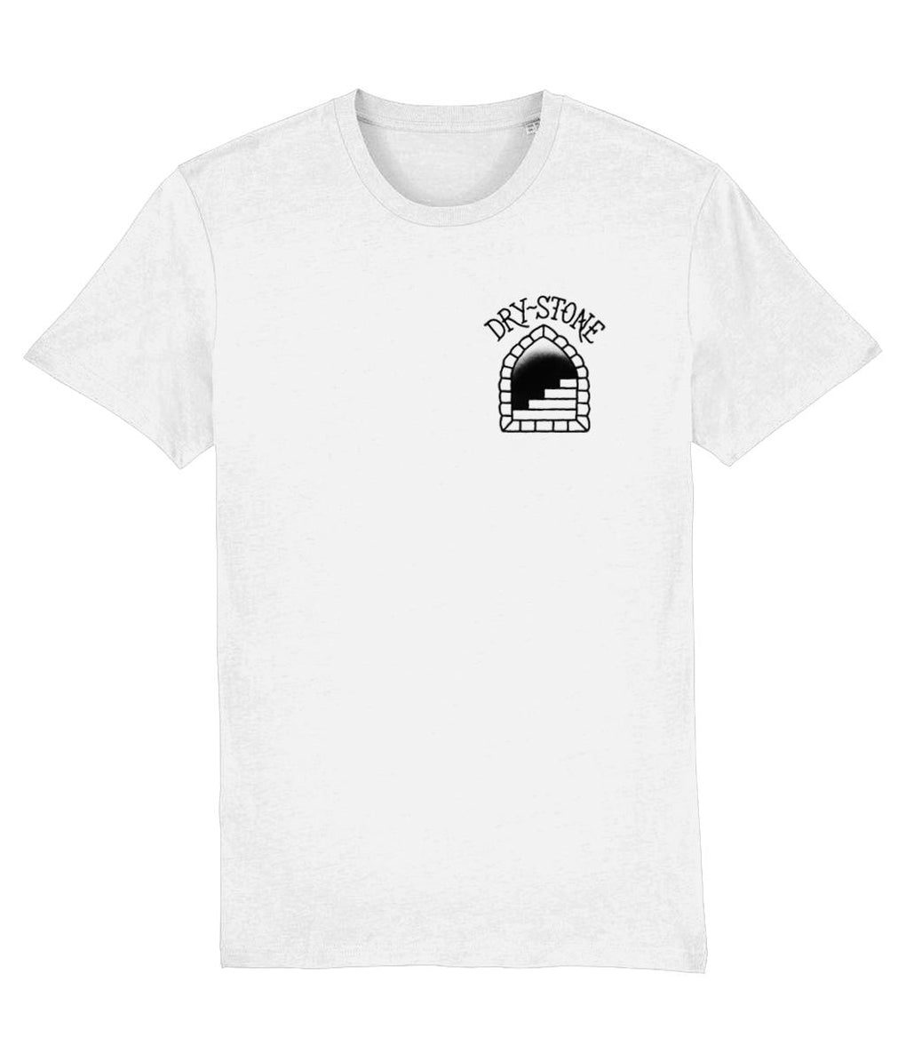 tattoo inspired T-shirt X-Small / White Drystone Shark & Anchor Tee - Black & White