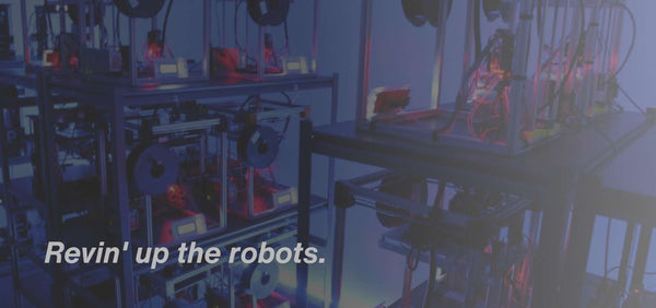 revin' up the robots picture of industrial 3D printing farm