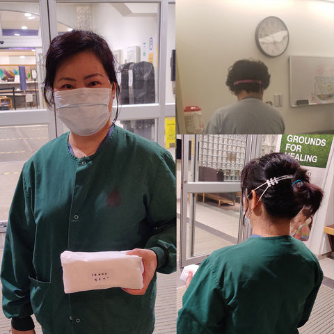 Cross Cancer Institute worker receive Agriolabs ear savers