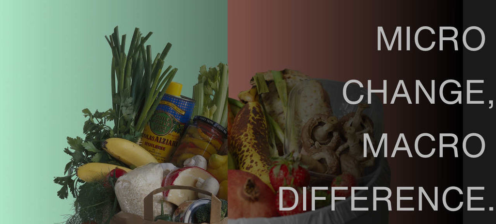 Micro change macro difference, image of good food and food waste