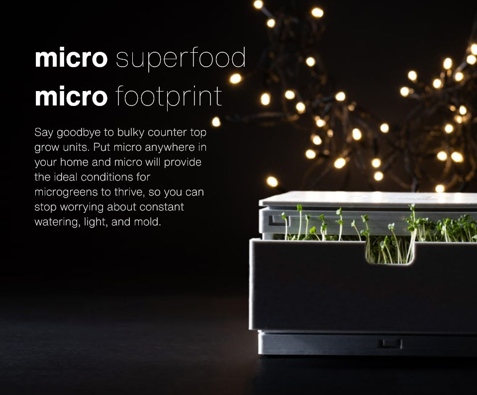 micro superfood micro footprint micro with some microgreens