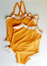 Load image into Gallery viewer, Toddler Girl Crossed Back Swimsuit
