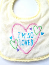 Load image into Gallery viewer, Terry Cloth Bibs Set of 3