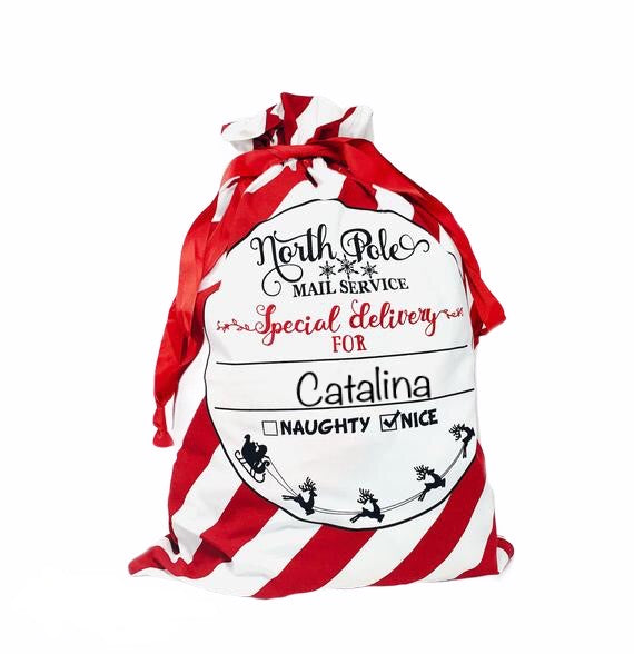 Personalized Santa Bag