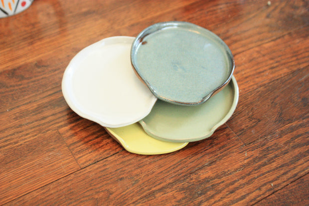 Ceramic Spoon Rest Seafoam Green