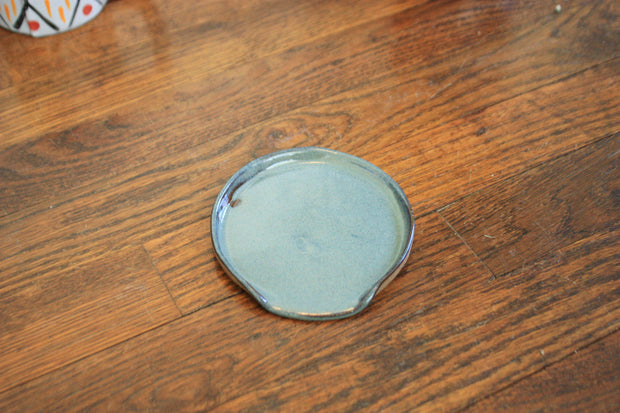 Ceramic Spoon Rest Speckled Blue