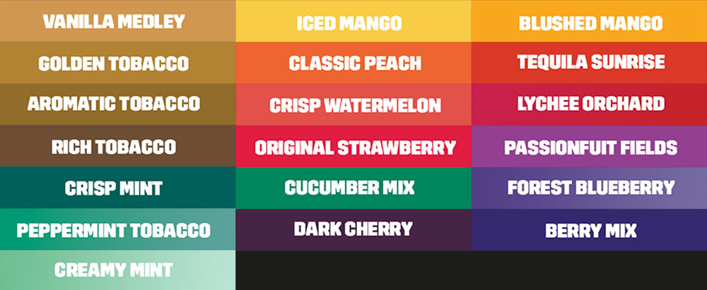 All Vape Flavours available in NZ