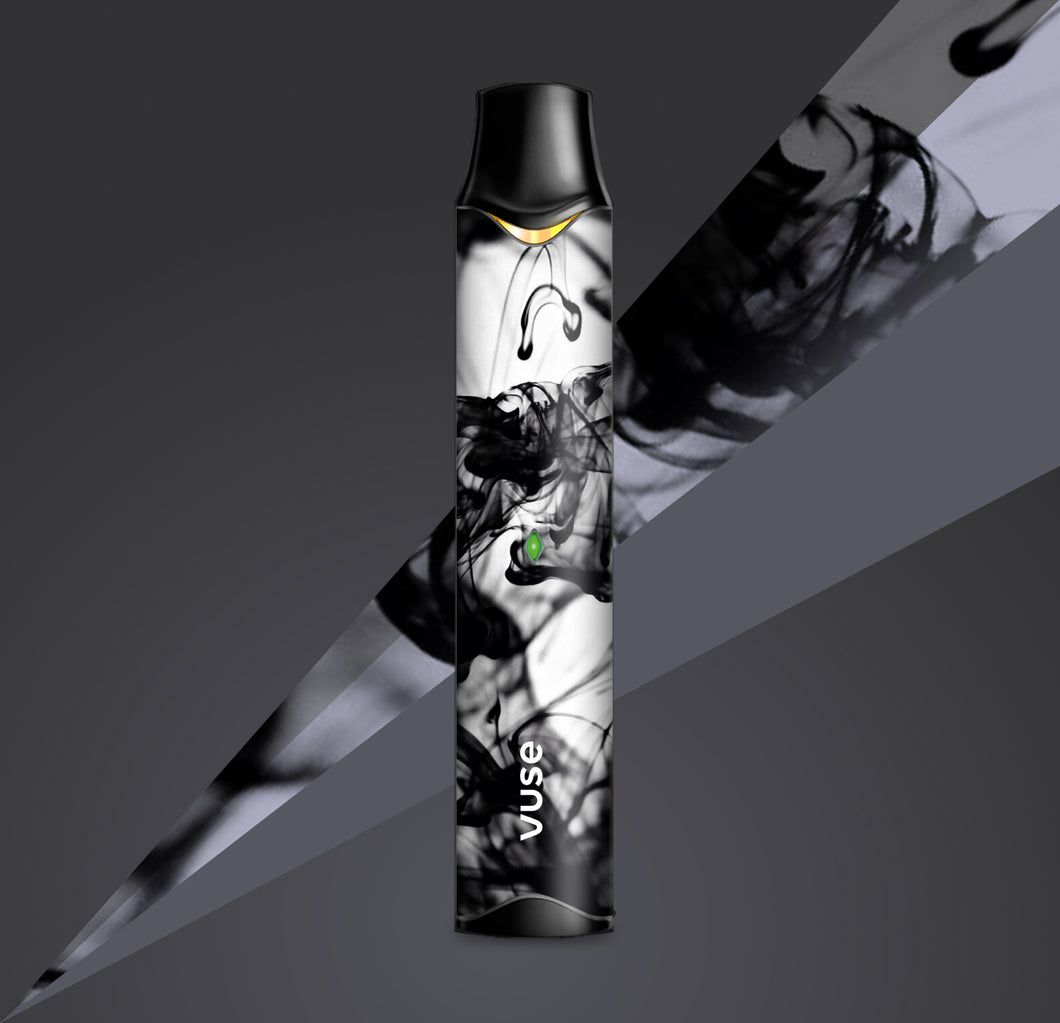 Featuring 3D textured gloss finish, Onyx is black and white with smoke swirls. Personalise your Vape Pen with a Limited Edition Skin.l