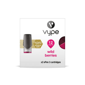 Wild Berries flavoured vape eliquid pods for your Vype or Vuse ePen 3