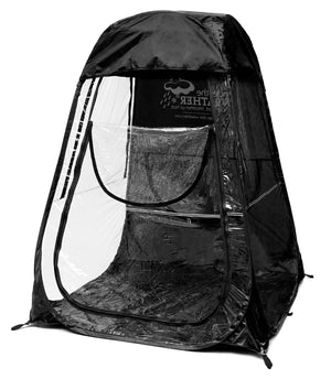 XLPod™ Pop-Up Backpacking Tent Black - Under the Weather® - Personal pop-up sports tent for mom, dad, kids, parents - Perfect for soccer, baseball, softball, football, youth team sports - As Seen on Shark Tank