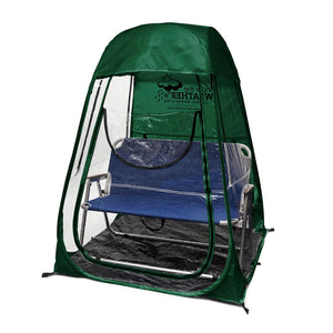 XLPod™ Pop-Up Backpacking Tent Hunter Green - Under the Weather® - Personal pop-up sports tent for mom, dad, kids, parents - Perfect for soccer, baseball, softball, football, youth team sports - As Seen on Shark Tank