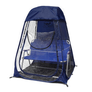 XLPod™ Pop-Up Backpacking Tent Navy - Under the Weather® - Personal pop-up sports tent for mom, dad, kids, parents - Perfect for soccer, baseball, softball, football, youth team sports - As Seen on Shark Tank