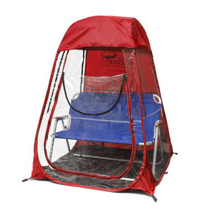 XLPod™ Pop-Up Backpacking Tent Red - Under the Weather® - Personal pop-up sports tent for mom, dad, kids, parents - Perfect for soccer, baseball, softball, football, youth team sports - As Seen on Shark Tank