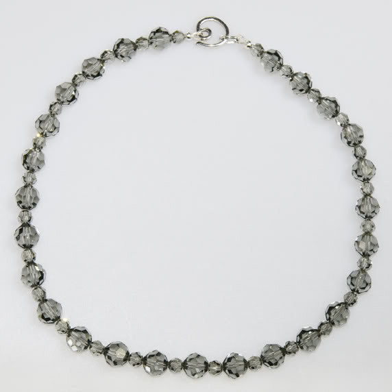 Crystal Necklace. Black Diamond Sparkle