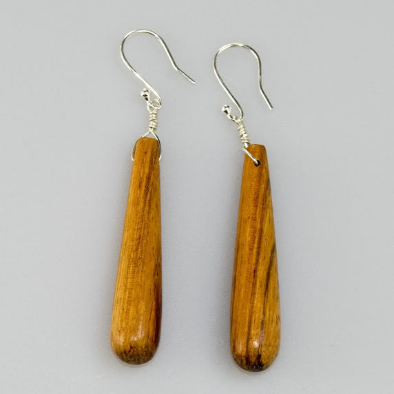 Drop Earrings. Bayong Wood