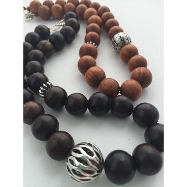 Beaded Necklace. Wood Beads