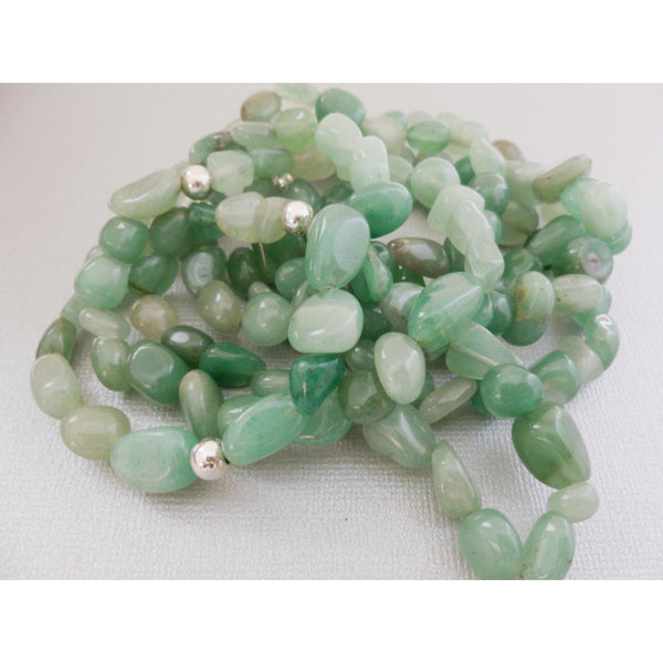 Beaded Bracelet. Green Aventurine Stackers