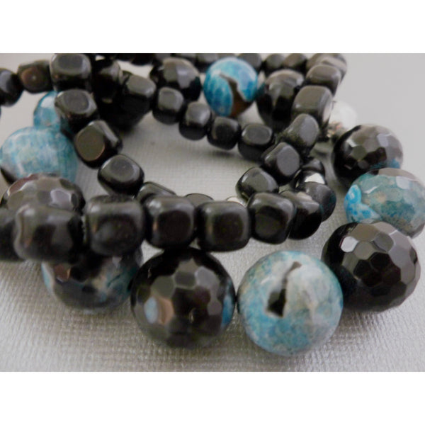 Beaded Bracelet. Blackstone Stackers