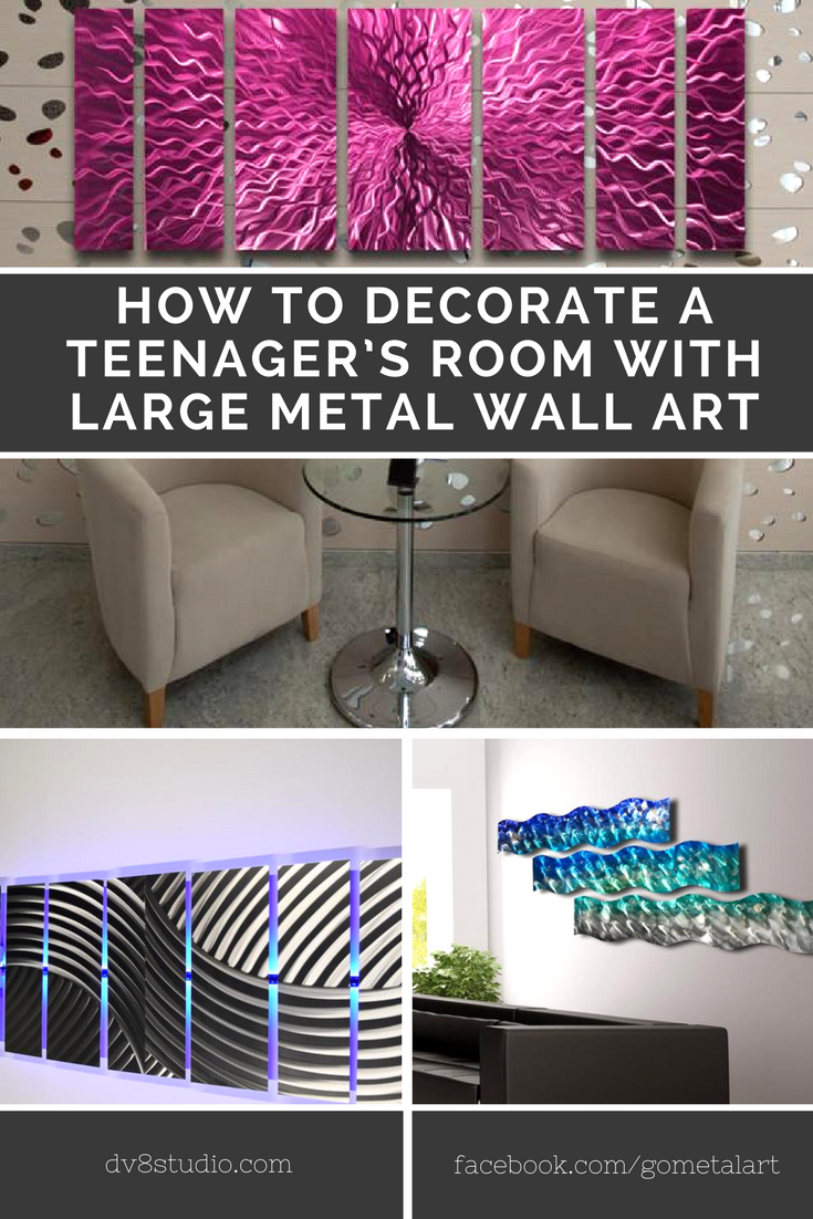 How To Decorate A Teenager's Room With Large Metal Wall Art