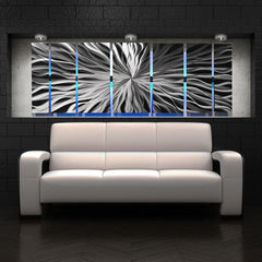 Lighted Wall Art Panels Above Couch