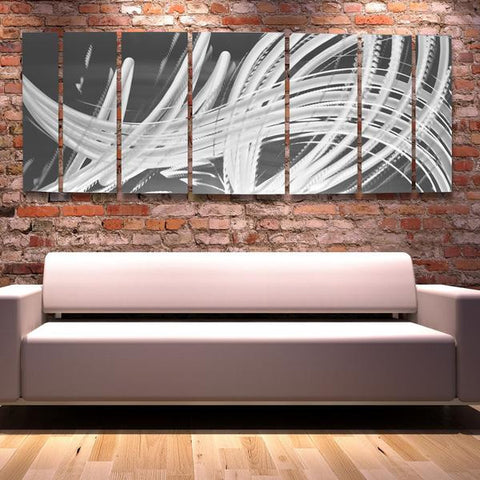 silver contemporary wall art