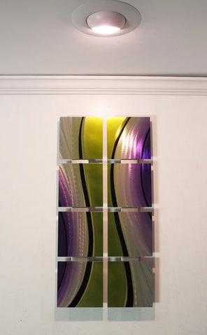 green and purple contemporary artwork
