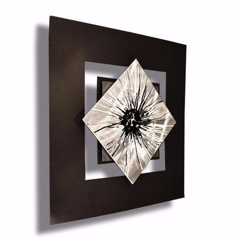 Perceptions Black And Silver Wall Art