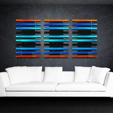 Radiant Pulse Metal Wall Art Set