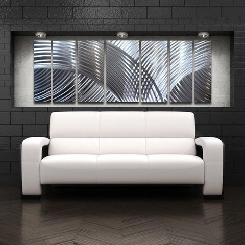 Silver Large Metal Wall Art