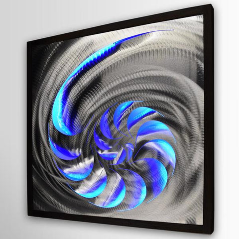 LED Wall Art With Blue Lights
