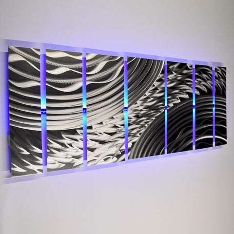 Blue Wall Art With Lights