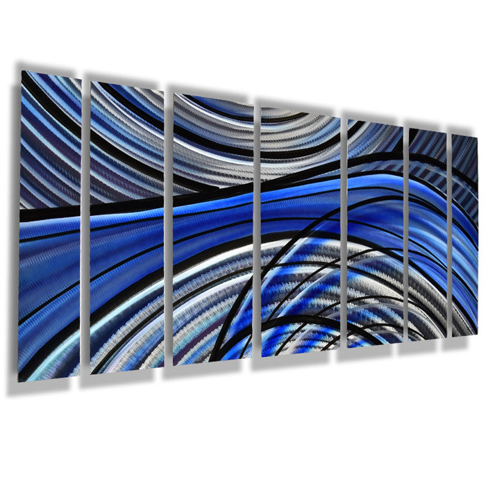 Wall Art Panels aqua blue metal contemporary wall art - dv8 studio
