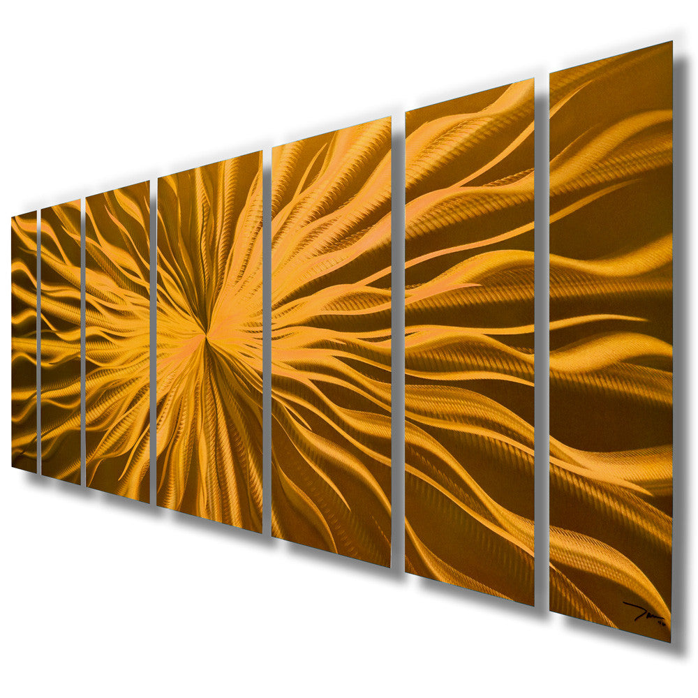 Cosmic energy copper candy 68 x24 large modern for Copper wall art