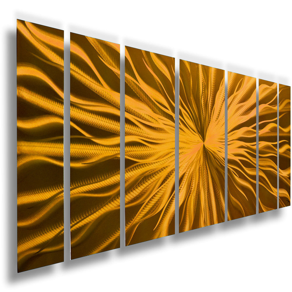 "Large Metal Wall Art cosmic energy - copper candy"" 68""x24"" large modern abstract metal"
