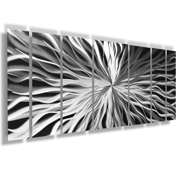 Quot Unique Perspective Quot 68 Quot X24 Quot Large Silver Modern Abstract
