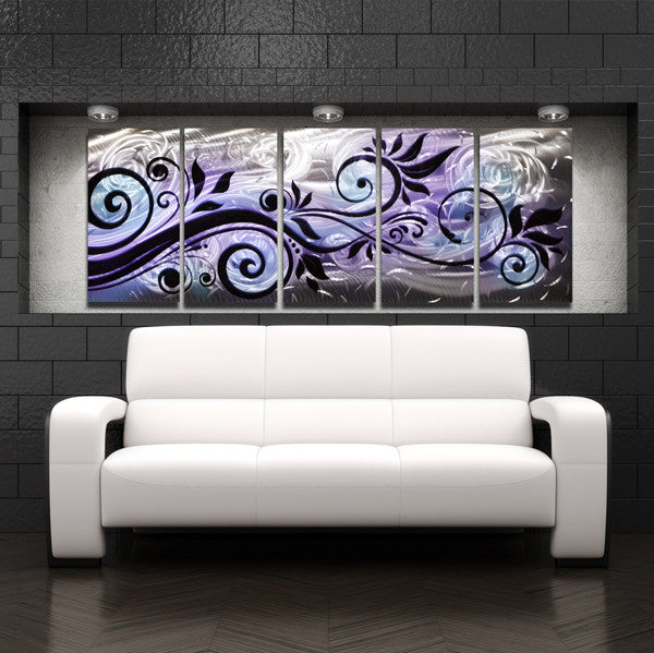 Quot Whispering Winds Quot 68 Quot X24 Quot Large Purple Blue Modern
