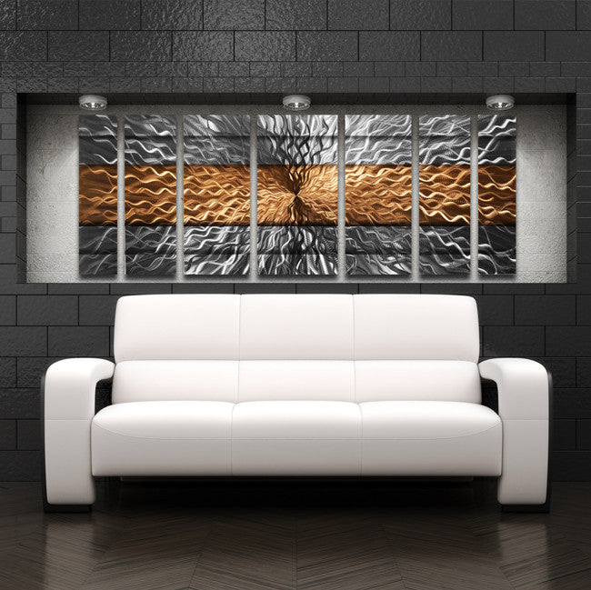 Copper Wall Art; Massive Metal Wall Painting - Copper; Modern Large ... & Copper Infinity