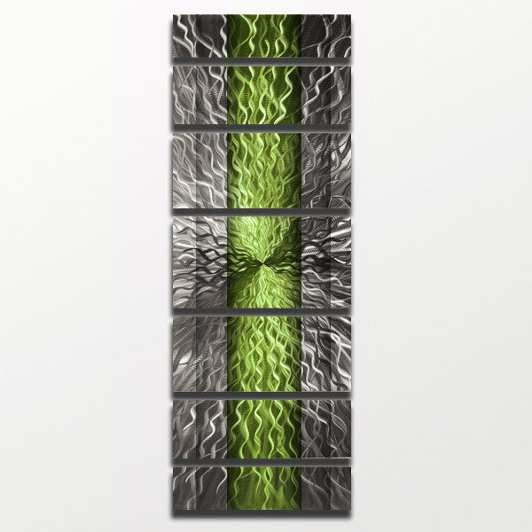 "Wall Art Panels cosmic energy - copper candy"" 68""x24"" large modern abstract metal"