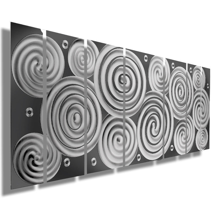 "Wall Art Panels silver rush"" 68""x24"" large silver wall art 
