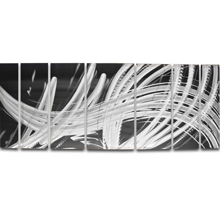 "Wall Art Panels elegant chaos"" 68"" x 24"" large metal wall art panels - dv8 studio"