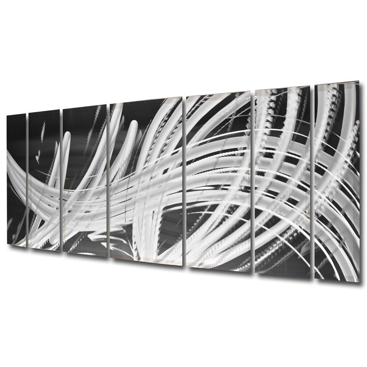 "Large Metal Wall Art elegant chaos"" 68"" x 24"" large metal wall art panels - dv8 studio"