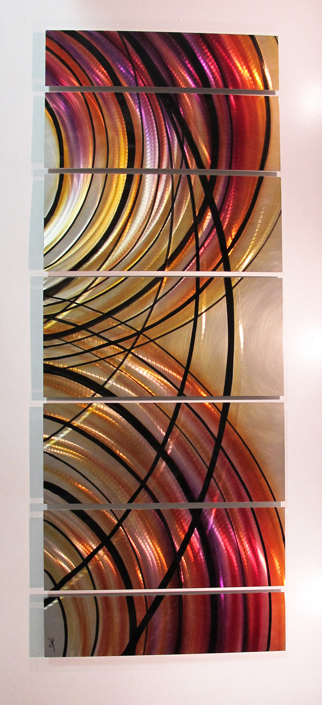 Large contemporary metal wall art by brian m jones
